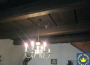 Interiér čiastočne zrekonštruovanej chalupy v obci Brehy